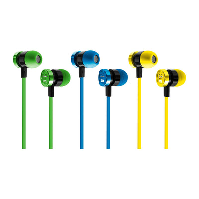 Set of 3 iHip M&M'S Stereo Earbuds with Built-in Mic