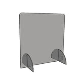 "Salon-Style Acrylic Sneeze Guard 23.5""h x 23.5""w."