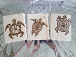 Turtle Coasters - Wood Coasters Engraved Personalized Coasters Wedding Coasters Customized Coasters Gift Birthday Animal Wildlife FreeShip