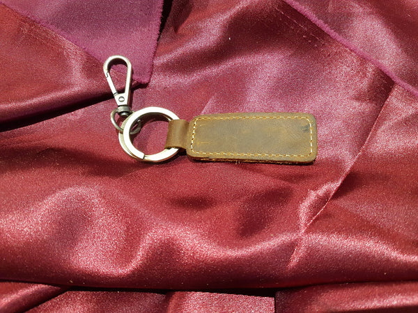 Custom Leather Key Chains - Display - Blank - Your Image here - Personalized Gift for Her\Him - Birthday\Holiday - Natural