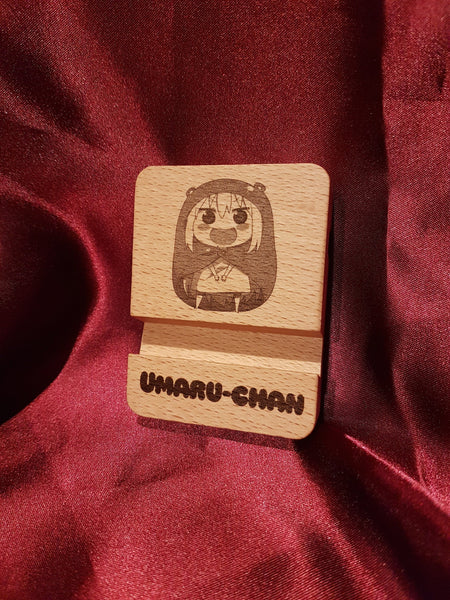 Umaru-chan Phone Stand- Himouto! -  Laser Engraved - Personalized - Holds Acrylics - Gift for him\her - Cola and Chips
