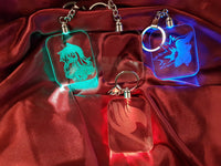 Custom LED Light Up Keychain- Acrylic Sign\Lamp - Laser Engraved - Color Change - Multi Colored - Key Ring