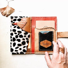 Load image into Gallery viewer, Cheetah print, one of a kind, leather wallet clutch by Bernice London