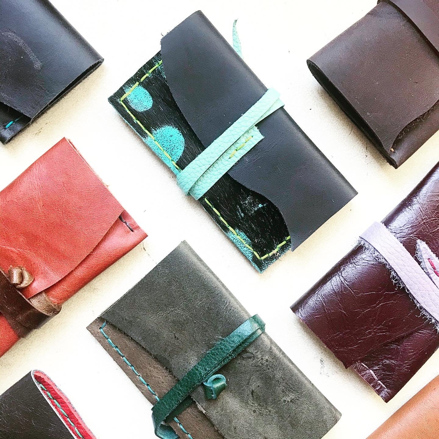 BL Horizontal Leather Card Holder