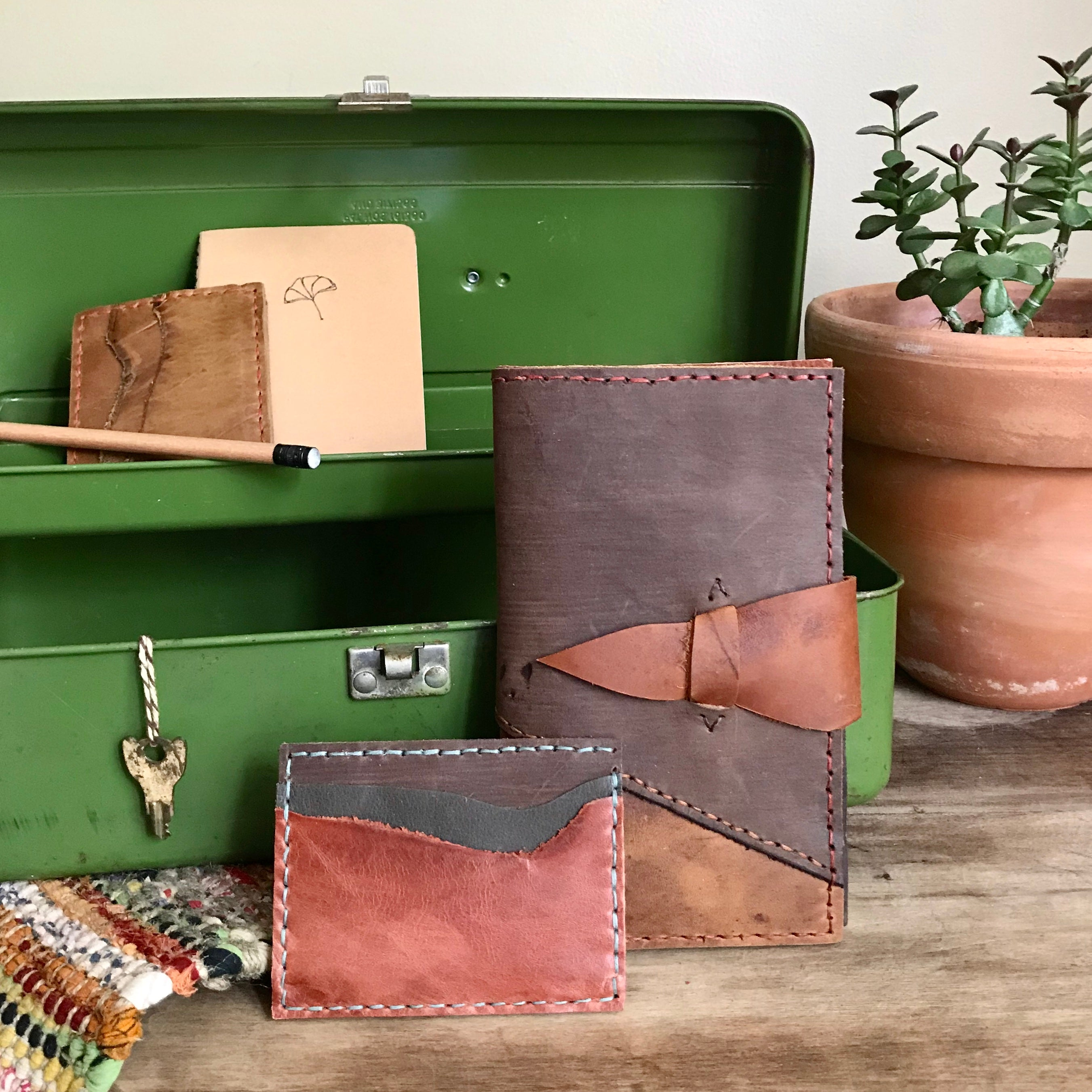 Leather wallets by Bernice London