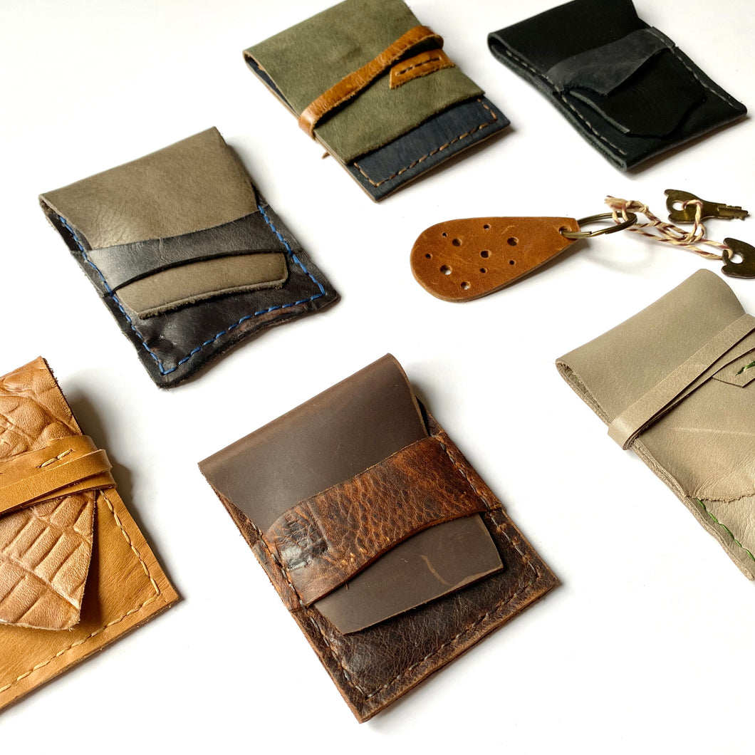 Teddy Leather Wallet / Vertical