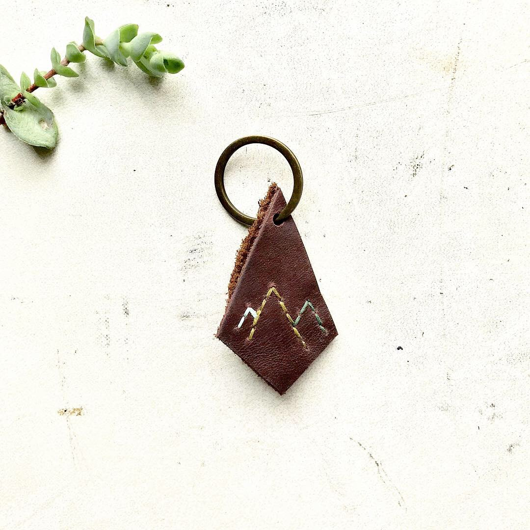 Leather Key Fob / Beautiful Misfit Smalls Collection