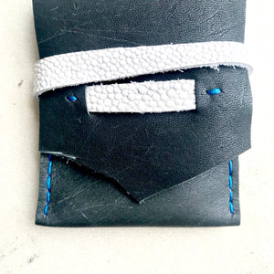leather business card holder by Bernice London