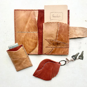 Leather Passport holder by Bernice London, Leather Key Fob and Slim wallet
