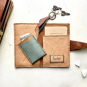 Leather Passport holder by Bernice London