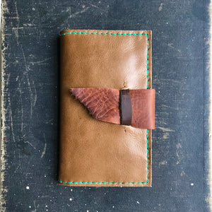 Leather wallet clutch by Bernice London