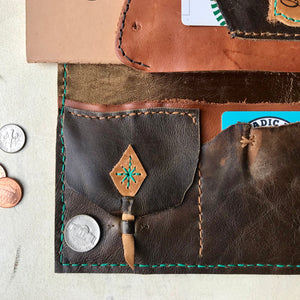 The Henry Leather Wallet Clutch