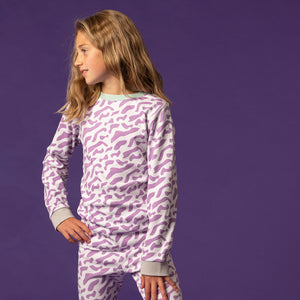 purple wave kids pyjamas
