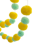 Pompom garland - yellow & mint