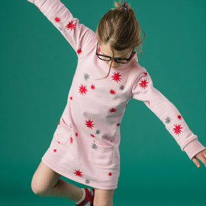 Sweater Dress - Pink Star