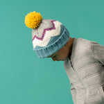 Bobble Hat - Chevron Sky