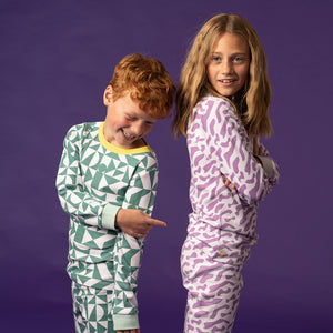 kids geometric pyjamas