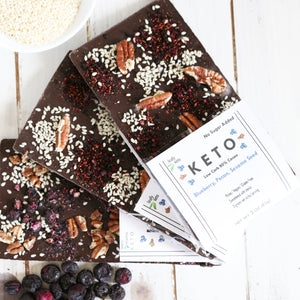 Keto Blueberry Pecan Chocolate Bars