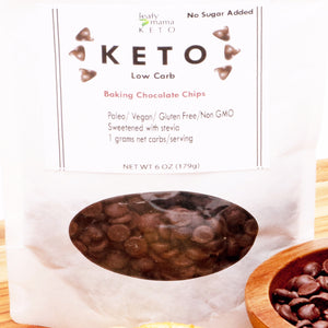 Make any low carb, no sugar baked sweet with zero sugar chocolate chips. Sweetened with stevia and erythritol.  No inulin, allulose, nothing artificial.