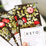 Keto Strawberry Pumpkin Seed Bars--Three