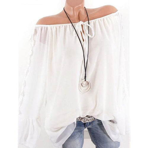 Lace-Up Collar Lace Openwork Flared Sleeve Stitching T-Shirt
