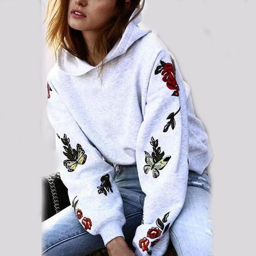 Hooded  Print  Casual  Hoodies