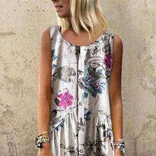 Load image into Gallery viewer, Fashion Botanical Jacquard Sleeveless Dresses