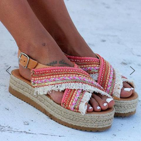 Summer New Peep Toe Buckle Sandals