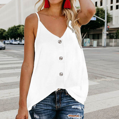 V-Neck Buttoned Camisole Top