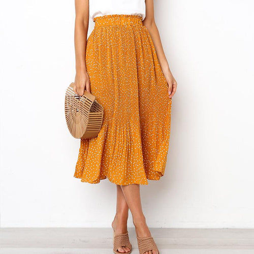 Fashionable Sexy Print Wave Dot Skirt