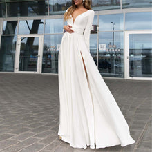 Load image into Gallery viewer, Fashion V Collar Chiffon Split Evening Dresses