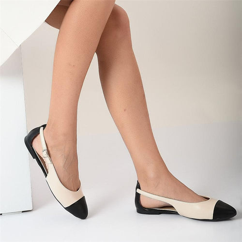 Women's Fashion Contrast Pointed   Flats