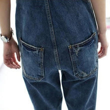 Load image into Gallery viewer, Fashion Denim Kangaroo Pocket Jumpsuits