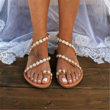 Load image into Gallery viewer, Star Diamond Beach Open Toe Flat Sandals