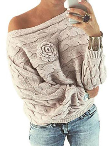 Loose Bat Three-Dimensional Printed Sweater
