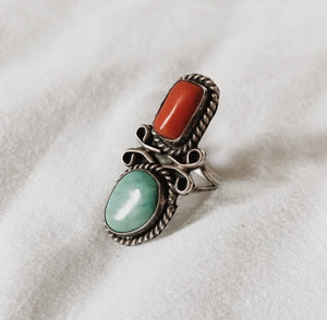 Vintage Two Stone Ring