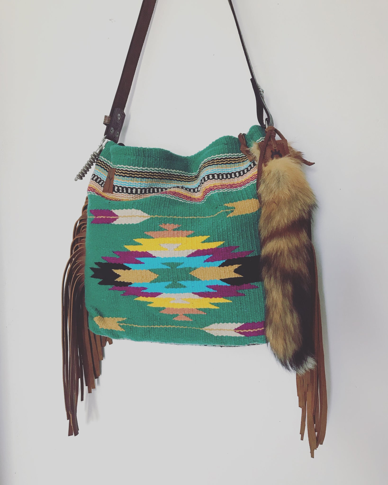 Two Arrows Turquoise Bag