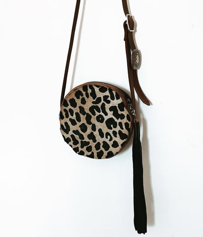 Cheetah Cowhide Carmen Bag