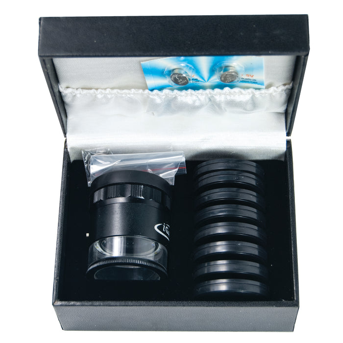 10X LED Lighted Pocket Optical Comparator Set