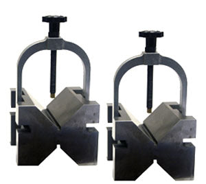 Precision Vee Blocks with Clamps (Pair)