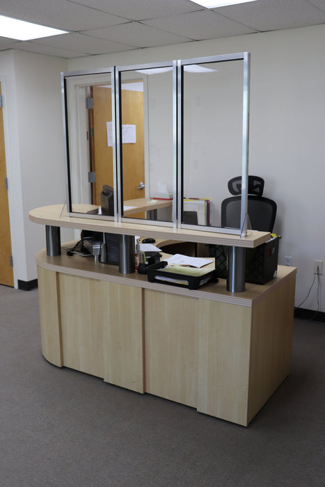 3-panel guard office set up