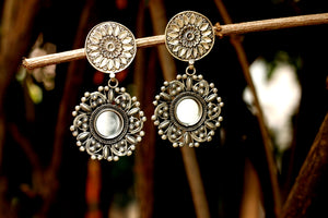 Double Circle Mirror Earring