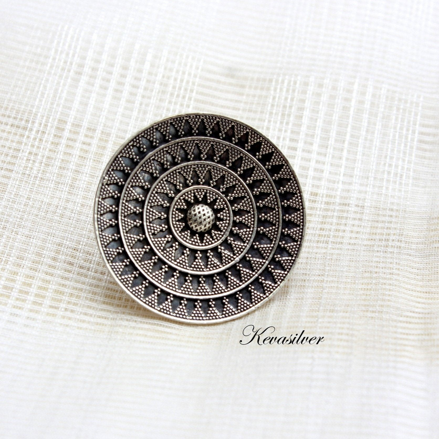 Sterling silver ring with Dana Work.