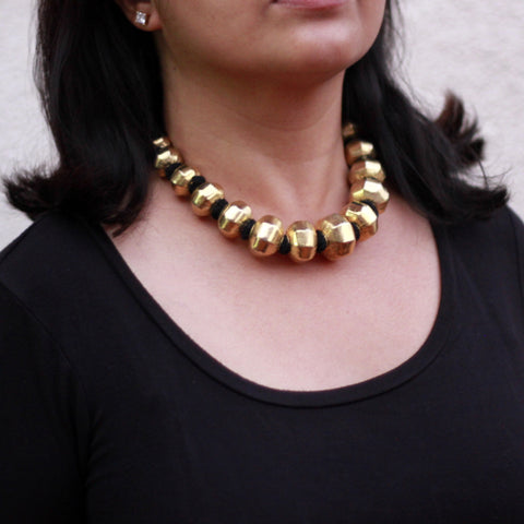 Big round dholki necklace