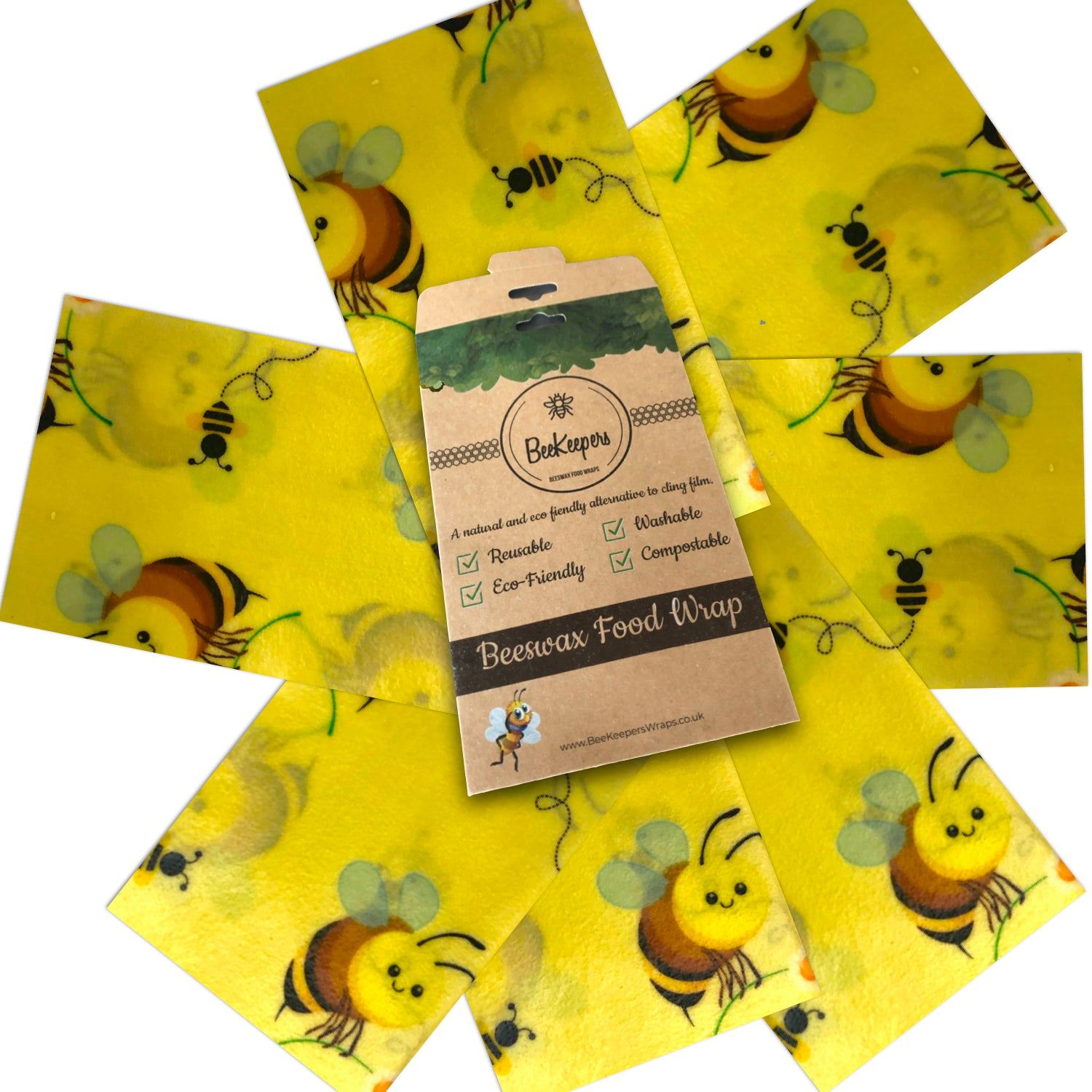 Starter Pack of 7 Wraps - Bees