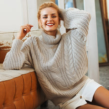 Load image into Gallery viewer, Roomy, Knitted, Turtleneck Sweater