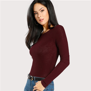 Burgundy Workwear Top