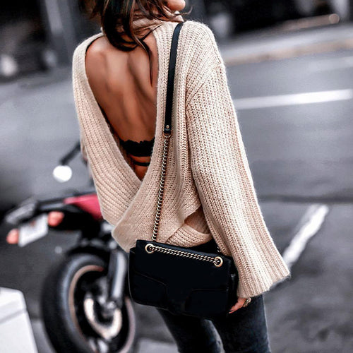 Sexy, Backless Sweater