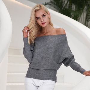 Off-The-Shoulder Knitted Top