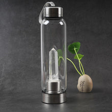 Load image into Gallery viewer, Water Bottle - Natural Quartz Crystal